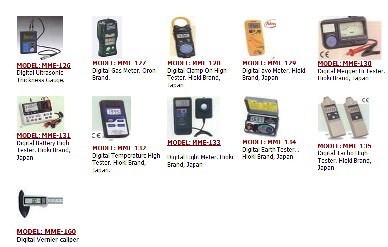 Electrical Measuring Instruments By Name : Electrician test equipment industrial electronic components